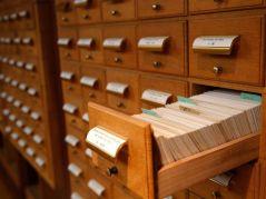 Historical Society Card Catalog cabinets