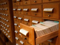Historical Society Card Catalog cabinets