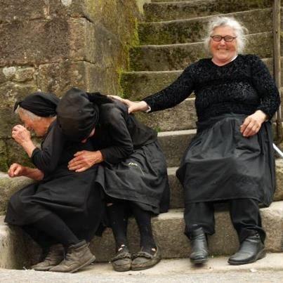 Laughing Italian grandmothers