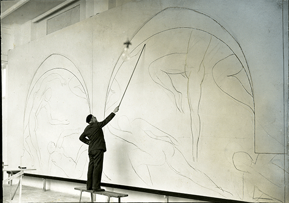 Barnes 4 Matisse working on Mural